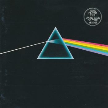 Copertina dell'album dei pink floyd intitolato the dark side of the moon