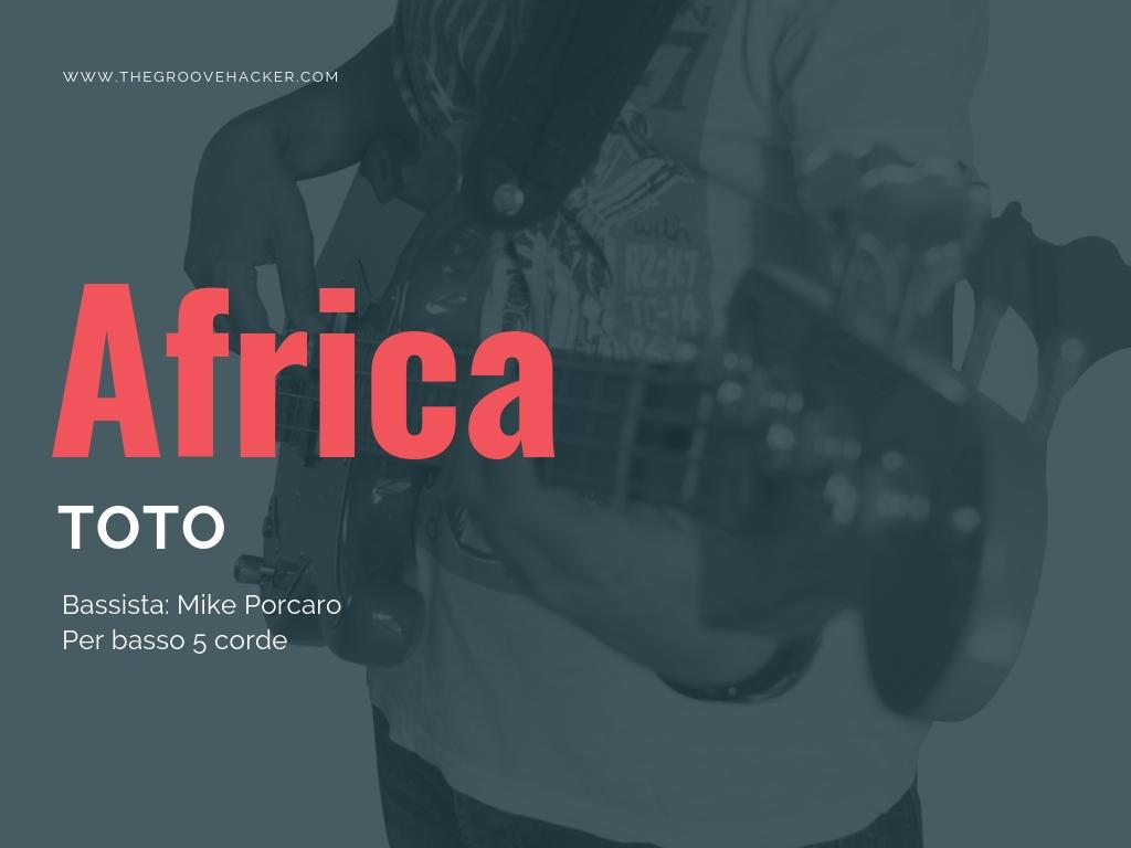 Trascrizione per basso di Africa dei Toto