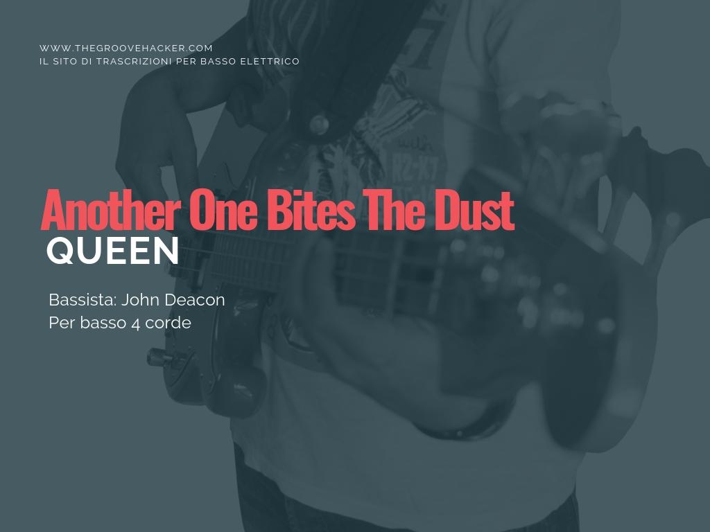 trascrizione per basso elettrico di Another one bites the dust dei Queen