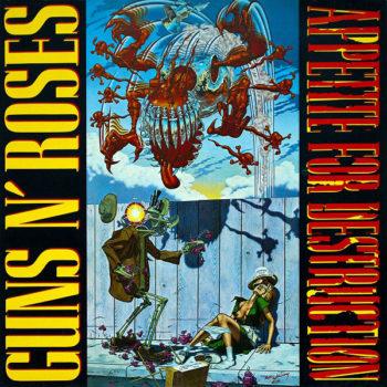 Copertina dell'album Appetite for destruction dei Guns n Roses