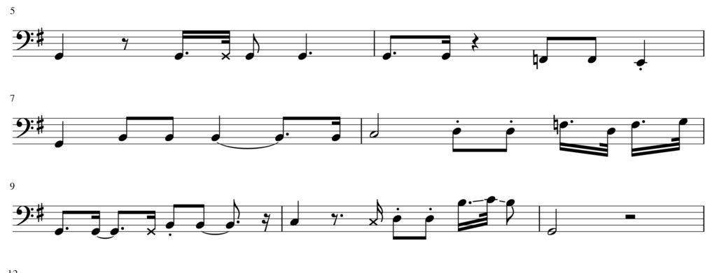 Variazione bass groove Rosanna di Nathan East