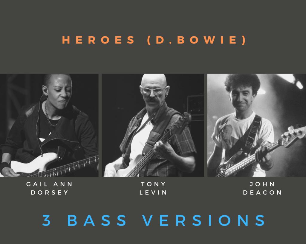 Trascrizione per basso elettrico di Heroes di David Bowie