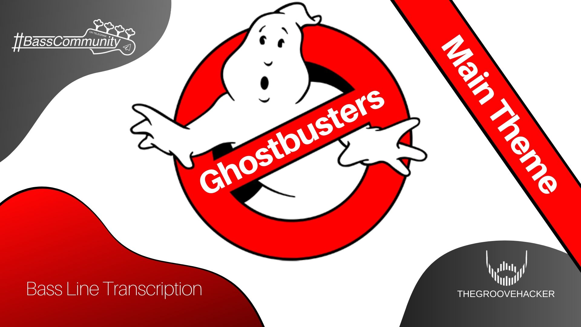 Trascrizione per basso elettrico della sigla dei Ghostbusters